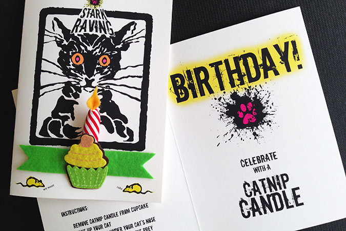 Instructions Catnip Candle Card
