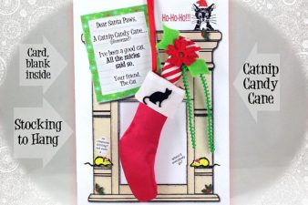 Catnip Candy Cane, Stocking and Card