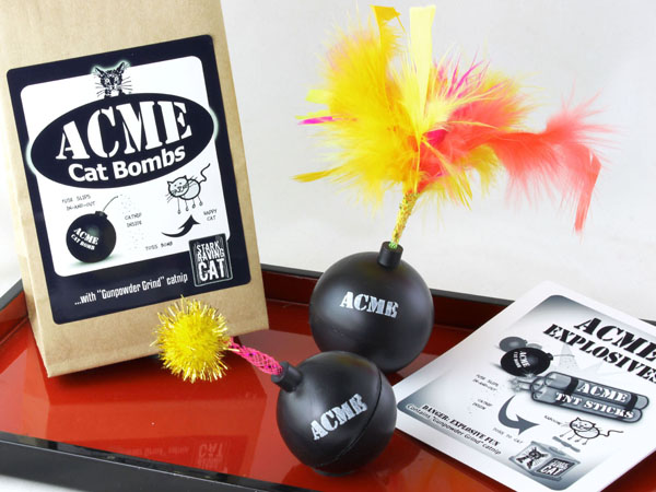 Acme Cat Bombs on Red Tray