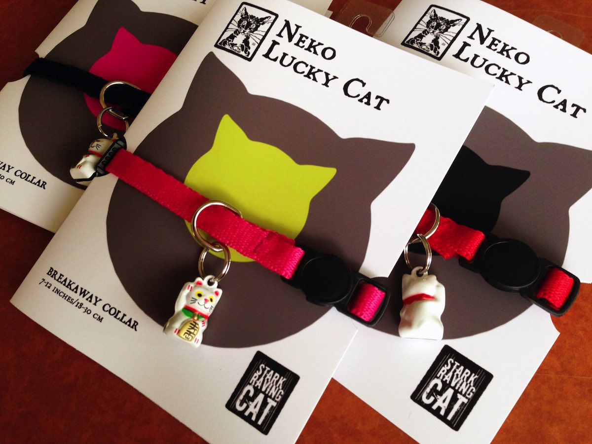 Lucky Cat Bell and Collar