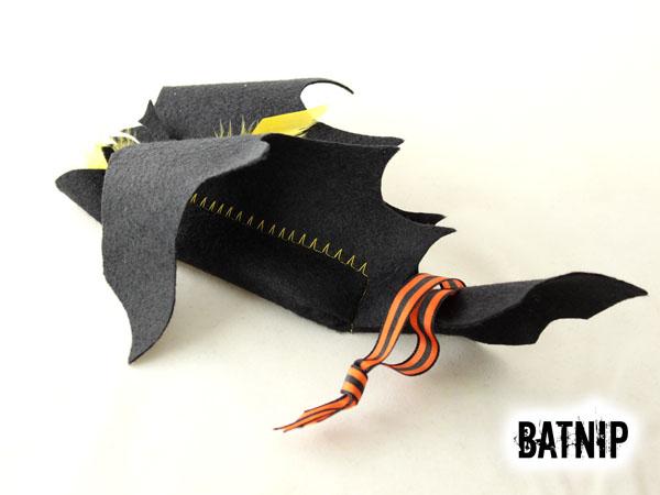 Batnip Cat Toy Striped Ribbon