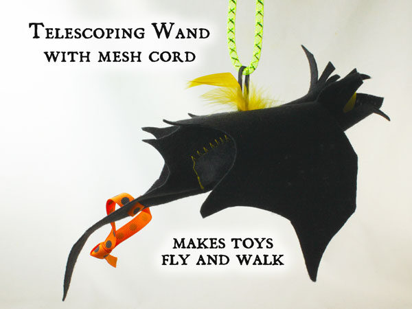Wand with Cord & Batnip Bat