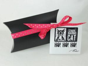 Neko Lucky Cat Collar and Earring Set Gift Box (Pink)
