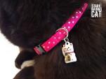 Neko Lucky Cat Collar (Berry Pink)