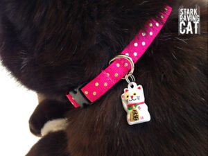 Neko Lucky Cat Collar (Berry Pink)
