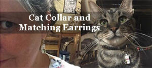 cat collar with matching earrings