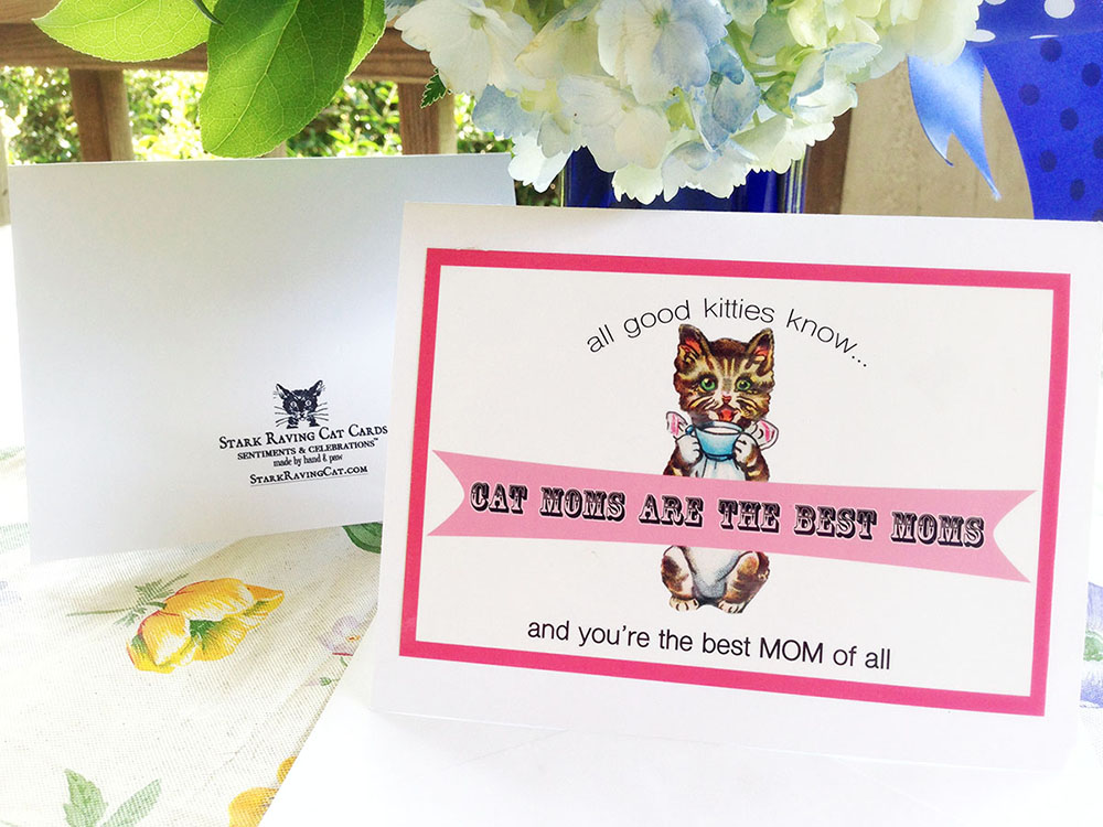Cat moms are the best moms greeting card stark raving cat cat moms are the best moms greeting card m4hsunfo