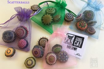 Scatter balls - 4 bags with card