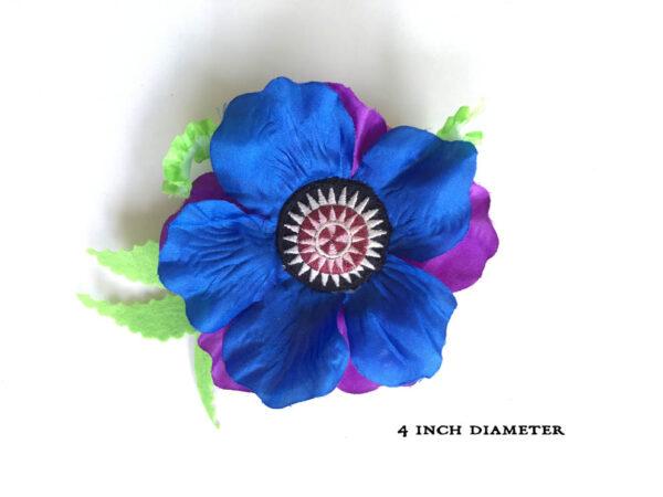 Blue 4-inch Poppy