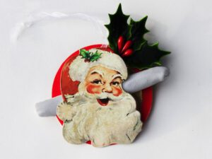 Santa Holly Ornament with Catnip Joint