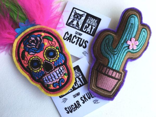 Cactus & Skull Catnip Set