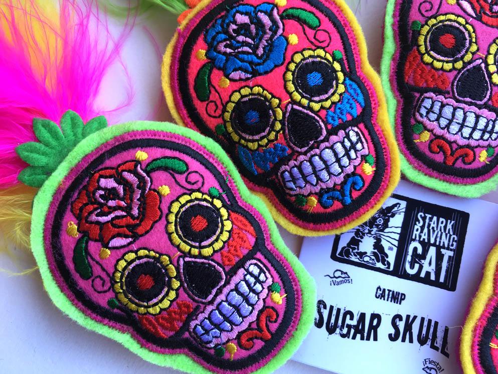 Sugar Skull Catnip Toy