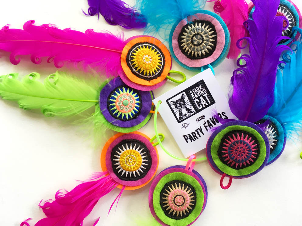Party Favor Toys : Party favors catnip cat toy with fancy feathers