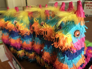 Piñatas Lined Up