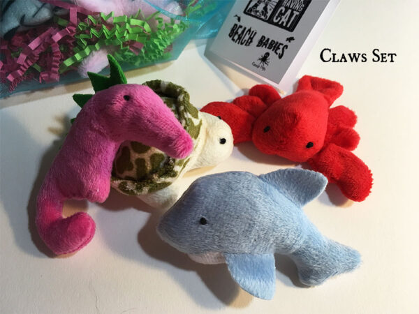 Catnip Beach Babies Claws Catnip Toy Set