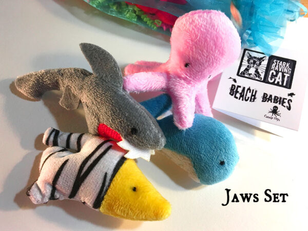 Catnip Beach Babies Jaws Catnip Toy Set
