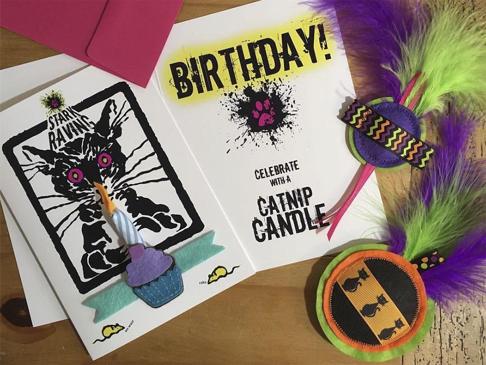 Catnip Candle Birthday Cards
