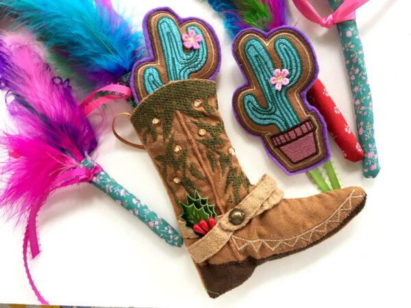 Cowboy Boot & Catnip Toys