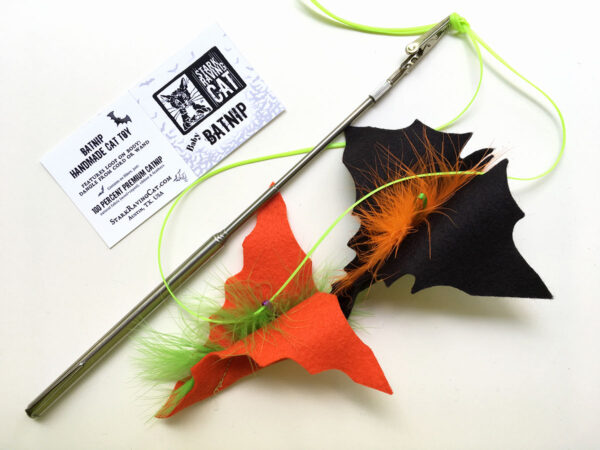 Halloween Batnips Catnip Toys with Extended Wand