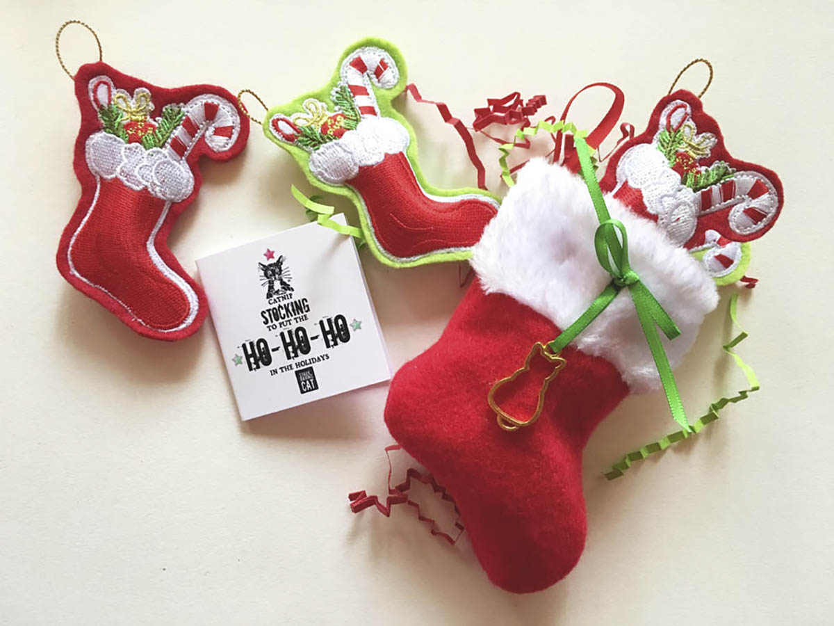 Catnip mini-stockings
