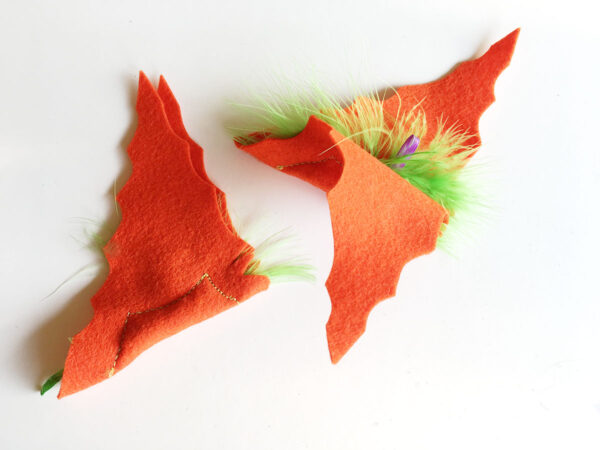 Orange Baby Bats Catnip Toys