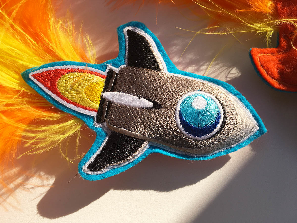 Rocket Ship Catnip Toy