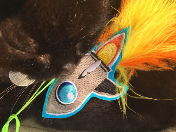 Wolfie with Rocket Ship Catnip Toy