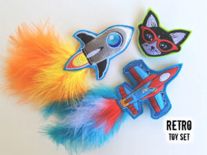 Retro Catnip Toy Set