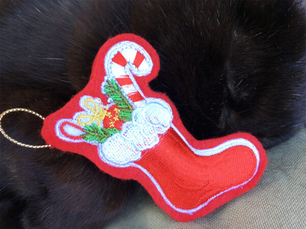 Mini Stocking Catnip Toy Closeup