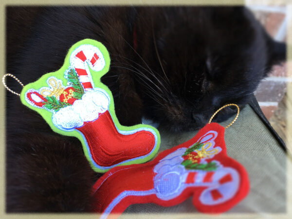 Mini-Stocking Catnip Toys & Wolfie