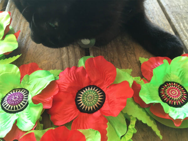 Poppies Red Green & Wolfie