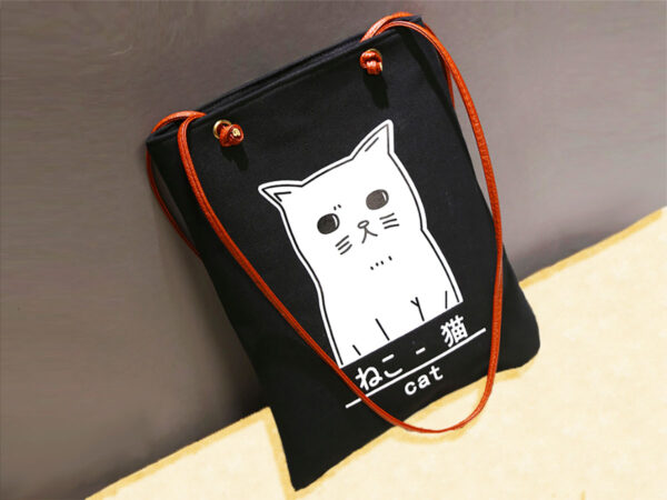 Japanese Cat Shoulder Bag