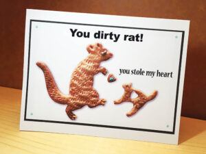 You Dirty Rat Cat and Mouse Greeting Card