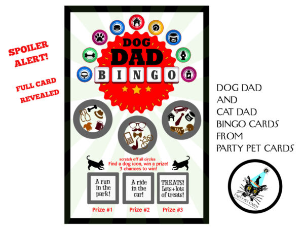Dog Dad Scratch-Off Bingo Greeting Card