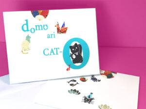 Domo Ari-Cat-O Thank You card