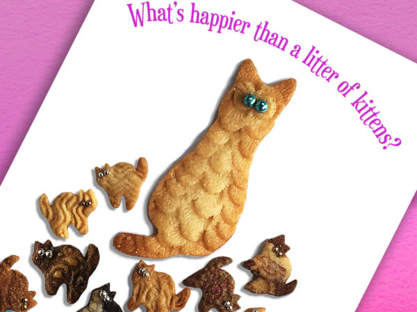 Happier Than Kittens Birthday Card