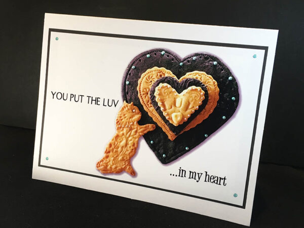 You Put the LUV in My Heart Cat Greeting Card