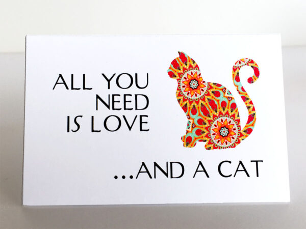 "Mini Cards ""Cat Quotes"" All you need..."