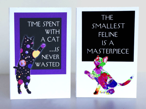 "Mini Cards ""Cat Quotes"" Time and Smallest..."