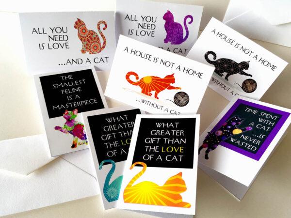 """Mini Cards """"Cat Quotes"""" Set"""