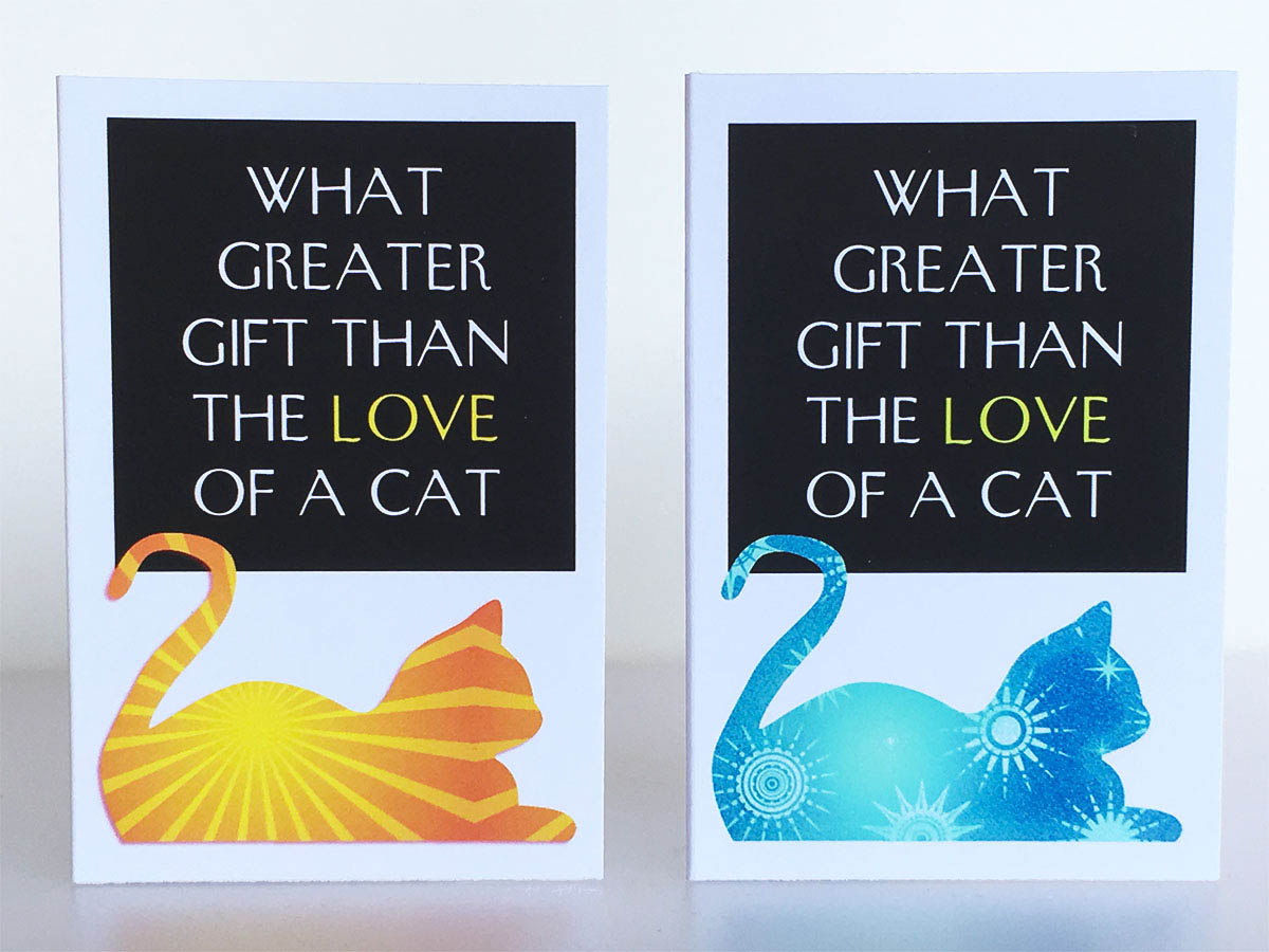 Mini Cards Cat Quotes Greeting Card Set