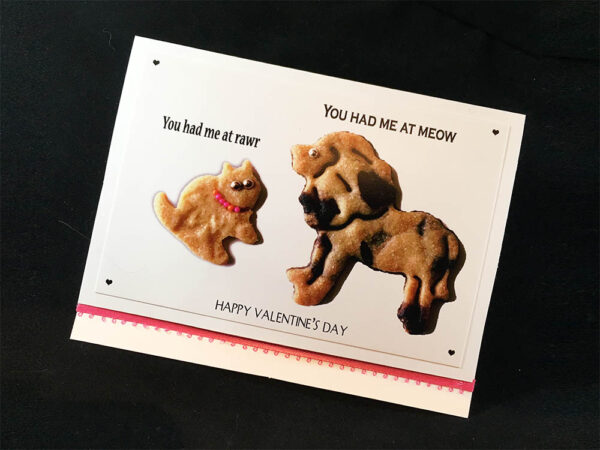 You Had Me at RAWR! Cat and Dog Greeting Card