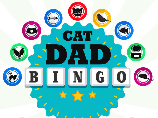 Cat Dad Scratch-Off Bingo Greeting Card