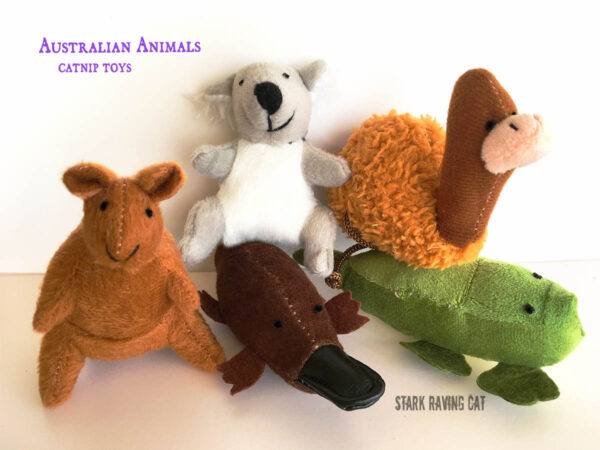 Australian Animals Catnip Cat Toys