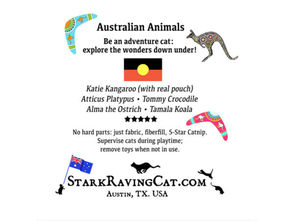 Tag for Australian Animals Catnip Cat Toys