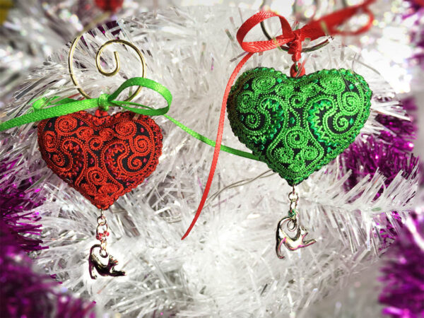 Heart Ornaments for Cats