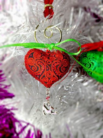 Heart Ornaments for Cats red