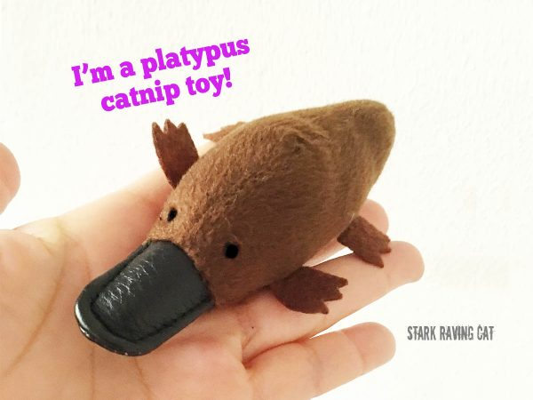 Platypus in hand from Australian Animals Catnip Cat Toys