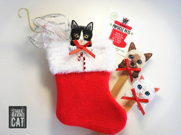 Popsicle Pets Stocking with Cats