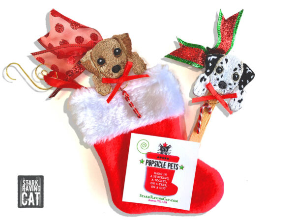 Popsicle Pets Stocking with Dog